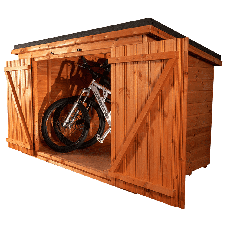 bike storage shed hand built in glasgow scotland
